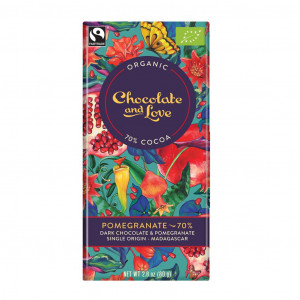 Chocolate & Love Pomegranate 70% Vorderseite