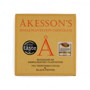 Åkesson's Trinitario Cocoa & Black Pepper 75% Vorderseite
