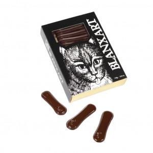 Blanxart Katzenzungen aus Zartbitterschokolade 60% Vorderseite