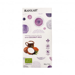 Blanxart Organic chocolate with coconut milk Vorderseite