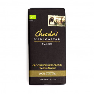 Robert Chocolat Madagascar Fine Dark Chocolate 100% Vorderseite