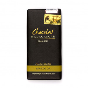Robert Chocolat Madagascar Fine Dark Chocolate 85% Vorderseite