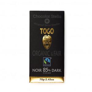 Chocolat Stella 85% Dark Togo Vorderseite