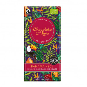 Chocolate & Love Panama 80% Vorderseite