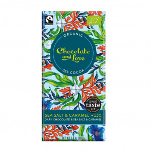 Chocolate & Love Sea Salt 55% Vorderseite