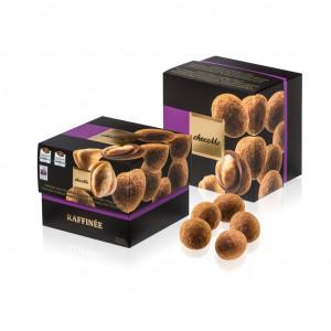 ChocoMe Raffinée Piemont Haselnüsse mit Milchschokolade und Zimt Vorderseite