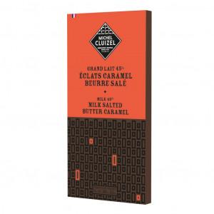 Michel Cluizel Grand Lait 45% Éclats Caramel Beurre Salé Vorderseite
