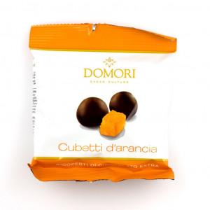 Domori Cubetti d'Arancia ricoperti 72% Vorderseite