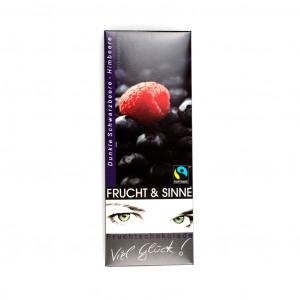 Frucht & Sinne Dunkle Schwarzbeere-Himbeere 52% Vorderseite