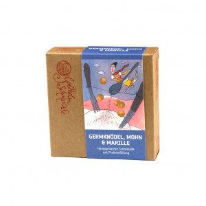 Goldhelm Schokoladen Manufaktur Germknödel, Mohn und Marille