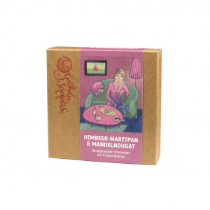 Goldhelm Schokoladen Manufaktur Himbeer-Marzipan Mandelnougat