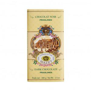 Mazet Confiseur Chocolat Noir Praslines 72% Vorderseite