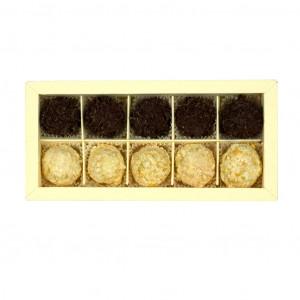 Nelleulla Aprikose und Zartbitterschokolade Trüffelschachtel