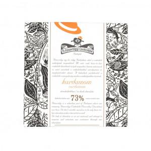 Rózsavölgyi Csokoládé Kardamom 73% Vorderseite
