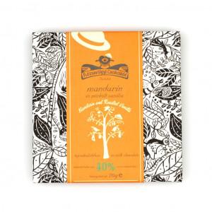 Rózsavölgyi Csokoládé Mandarinöl und geröstete Vanille Vorderseite