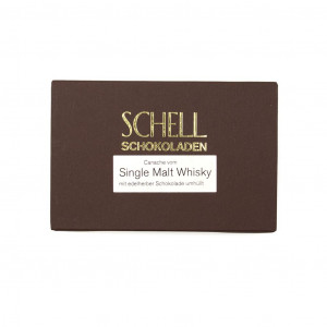 Schell Schokoladen Single Malt Whisky 70% Vorderseite