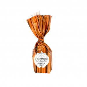 TartufLanghe Mini Trifulòt Tartufo dolce Caramello & Sale Vorderseite