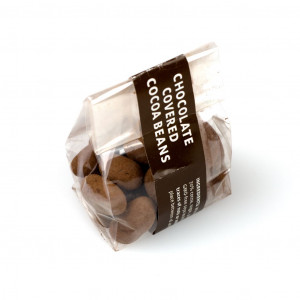 Tobago Estate Chocolate W.I. chocolate covered cocoa beans Vorderseite