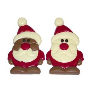 Weihnachstmann aus Vollmilch oder weißer Schokolade
