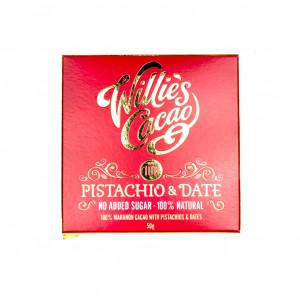Willie's Cacao Pistachio & Date Vorderseite