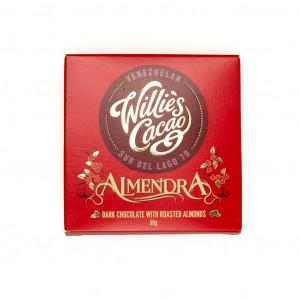 Willie's Cacao Almendra geröstete Mandeln 70% Vorderseite