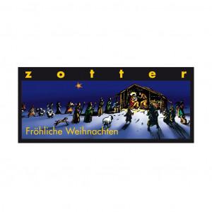 """Zotter """"Fröhliche Weihnachten"""" 50% Vorderseite"""