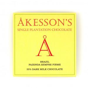 Åkesson's Forastero Cocoa Fazenda Sempre Firme Brazil 55% Vorderseite