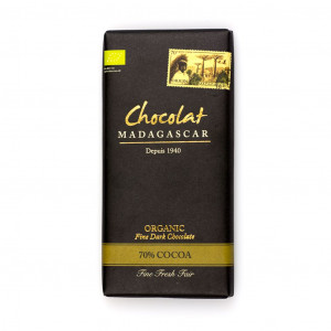 Robert Chocolat Madagascar Fine Dark Chocolate 70% Vorderseite