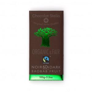 Chocolat Stella Dark Baobab Fruit 60% Vorderseite