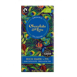 Chocolate & Love Rich Dark 71% Organic, Fair Trade Vorderseite