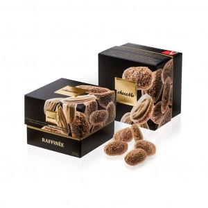 ChocoMe Raffinée Sizilianische Mandeln mit Guérande Salz, Waffeln und Blonde Schokolade Vorderseite