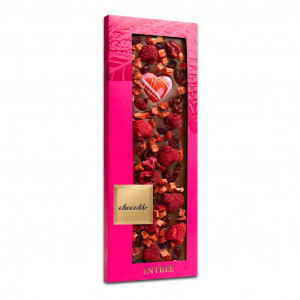ChocoMe Entrée Love Himbeere, Erdbeere, Preiselbeere 40%