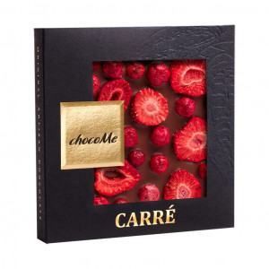 ChocoMe Carré Erdbeere, rote Johannisbeere 41%