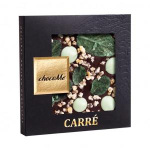 ChocoMe Carré kandierte Zitronenschale, Minzeblätter, Lime Pastille