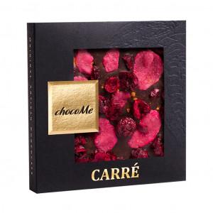 ChocoMe Carré Zimt, Rose, Sauerkirsche 66% Vorderseite