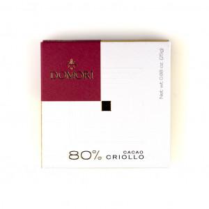 Domori Cacao Criollo 80% Vorderseite