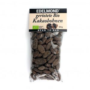 Edelmond geröstete Bio Kakaobohnen Vorderseite
