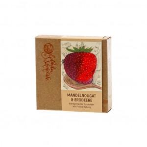 Goldhelm Schokoladen Manufaktur Mandelnougat Erdbeere