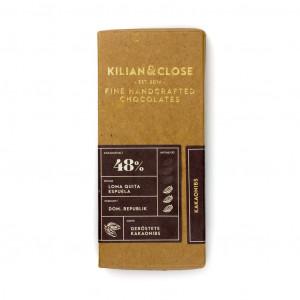 Kilian & Close Dominikanische Republik Kakaonibs 48% Vorderseite