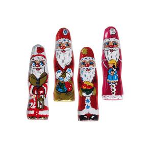 Kleine Weihnachtsmännchen aus Vollmilchschokolade