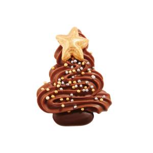 Festlicher Weihnachtsbaum aus Vollmilch Schokolade
