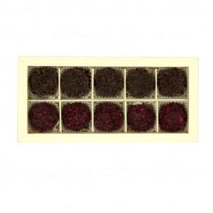 Nelleulla Kirsche und Zartbitterschokolade Trüffelschachtel