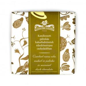 ózsavölgyi Csokoládé Candied Cocoa Nibs soaked in Palinka Vorderseite