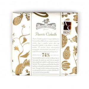 Rózsavölgyi Csokoládé Puerto Cabello 74%  Vorderseite