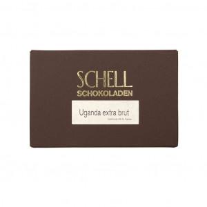 Schell Schokoladen Uganda extra brut 85% Vorderseite