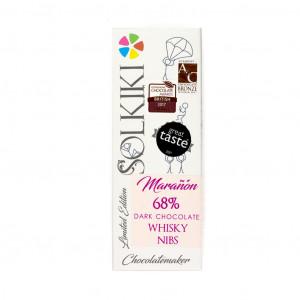 olkiki Micro-Batch Peru Marañón Whisky Nibs 68% Vorderseite
