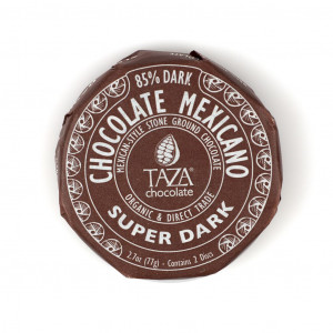 Taza Chocolate Mexicano Super Dark 85% Vorderseite