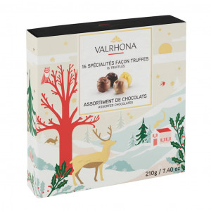 Valrhona Geschenkschachtel mit 16 Trüffeln Spezialitäten