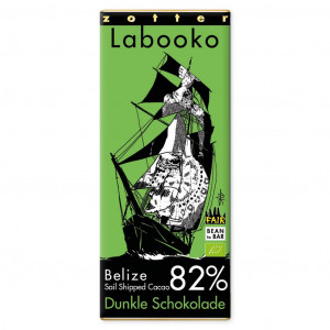 "Zotter Labooko Belize ""Sail Shipped Cacao"" 82%"