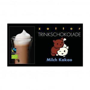 Zotter Trinkschokolade Milch Kakao Vorderseite